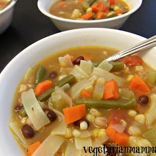 Vegetable Noodle Soup – #glutenfree #vegan
