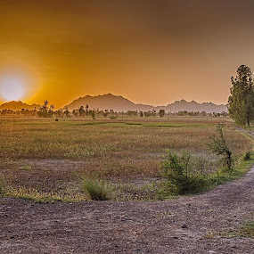 Dreamland by Fateen Younis - Landscapes Sunsets & Sunrises ( hills, sky, pathway, sunset, landscape,  )