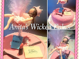 21st pink make up cake with figure