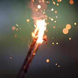 Sparkler by Sonya Wilson - Abstract Fire & Fireworks ( sparkler, fireworks, light )