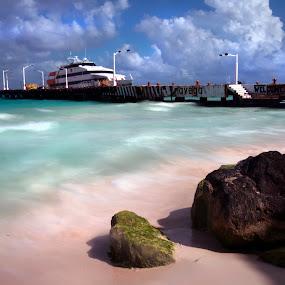 Playa del Carmen by Cristobal Garciaferro Rubio - Landscapes Beaches ( water, shore, sky, cluds, playa del carmen, mexico, beach, caribbean )