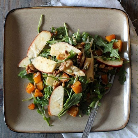 Butternut Squash, Apples, and Walnut Salad