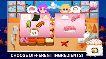 Screenshot of Sushi Making Game