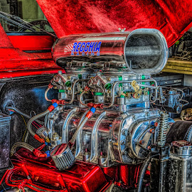 I need more power! by Fred Faulkner - Transportation Automobiles ( automotive, jeap, small block engine, hdr, engine, super-charger, auto, blower )