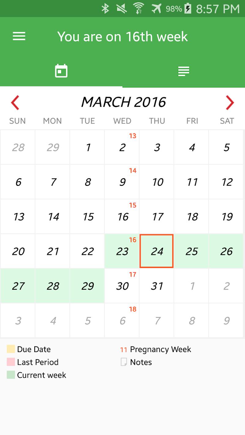 Pregnancy Week By Week Screenshot 4