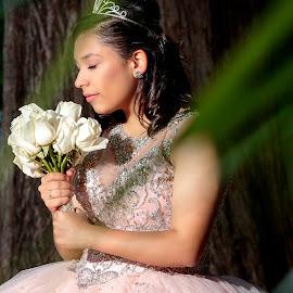 by Jesse Rodriguez Jr - People Portraits of Women ( quince, #jnrodriguezphotography, jnrod, beautiful, jnrodriguez.com, jnrodriguez, flower )
