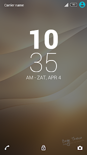 XPERIA™ Beige Theme - screenshot
