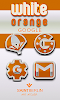 White Orange Icon Pack: miniatura da captura de tela