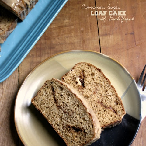 Glazed Cinnamon Sugar Loaf Cake {with Greek yogurt}