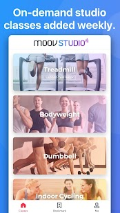 Moov Studio: Fitness Workouts Fitness app screenshot for Android