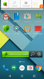 App Anti-virus Dr.Web Light APK for Kindle