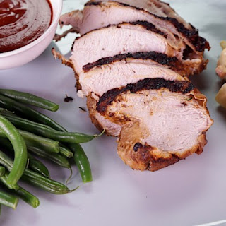 BBQ Brined Spiced Turkey Breast with Potato Salad