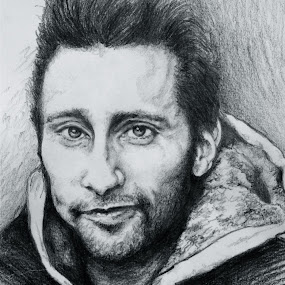portret male by David Van der Smissen - Drawing All Drawing