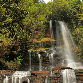 Falling in white! by Srivenkata Subramanian - Landscapes Waterscapes ( bangalore, winter, waterfalls, falls, chikmagalur, india, white water, karnataka )