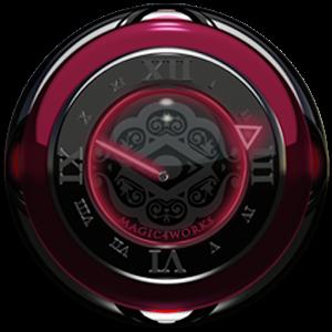 Bordeaux D Analog Clock Widget