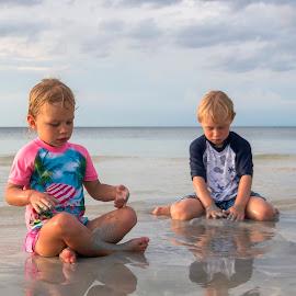 The Sand by Geoffrey Wols - Babies & Children Children Candids ( toddlers, children, beach, playing, girl, boy, water,  )