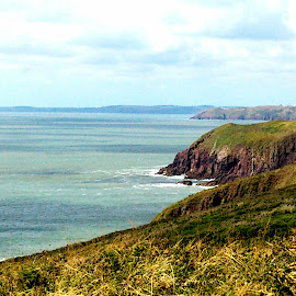by Emma Payne - Novices Only Landscapes ( wales, caldey island, sea, coast )