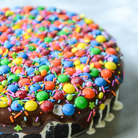 Confetti Ice Cream Fudge Pie with M&M'S