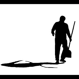 Hard work by Nenad Borojevic Foto - Abstract Patterns ( shadow, shovel, man,  )