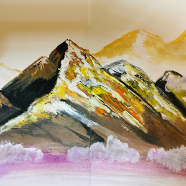 Glamorous mountains by Kanwar Rajneesh Singh - Painting All Painting