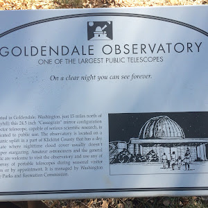 GOLDENDALE OBSERVATORY ONE OF THE LARGEST PUBLIC TELESCOPES On a clear night you can see forever. Located in Goldendale, Washington, just 15 miles north of Maryhill; this 24.5 inch