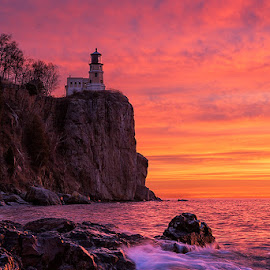 Split Rock Lighthouse by Ben Podolak - Landscapes Sunsets & Sunrises ( minnesota, split rock, lighthouse, north shore, lake superior )