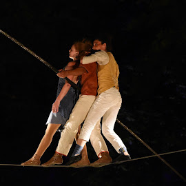 Balance In Three by Marco Bertamé - Sports & Fitness Other Sports ( balance, rope, three, air, high )