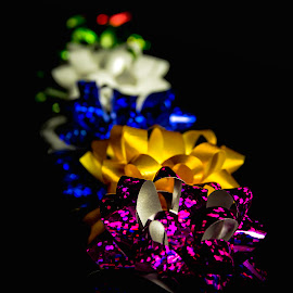 Line o Bows by Anthony Balzarini - Public Holidays Christmas ( #presents, #decorations, #holiday, #bows, #christmas )