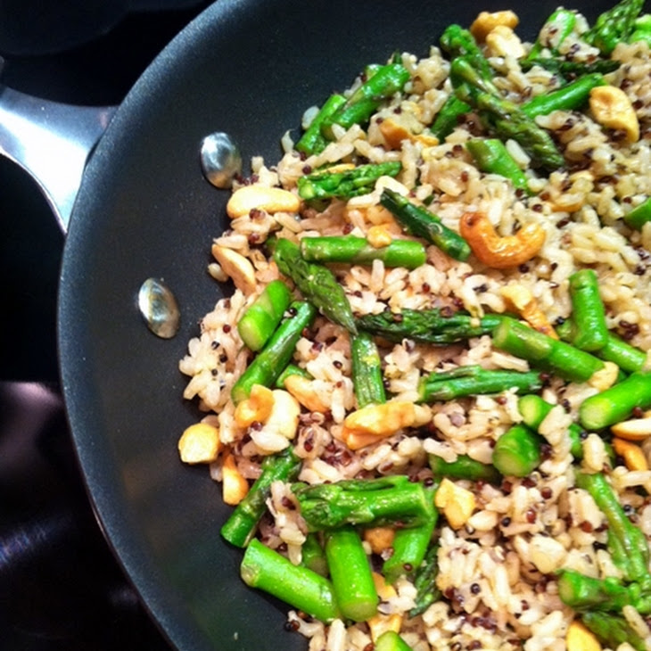 Brown Rice with Cashews, Asparagus and Quinoa Recipe | Yummly