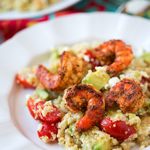 Spicy Grilled Shrimp with Quinoa Salad