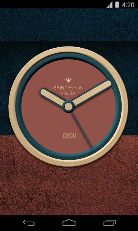 Cabu Clock Widget Screenshot 1