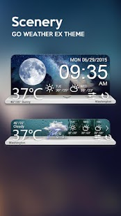 Scenery Weather Widget Theme   Android Apps On Google Play