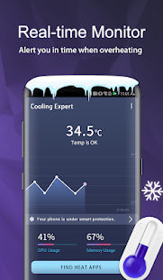 Cooling Expert -❄️Cool down CPU & 📳Optimize Phone for pc