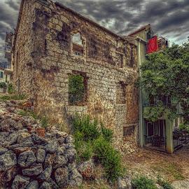 Coca-Cola by Bojan Bilas - Buildings & Architecture Decaying & Abandoned ( croatia, architecture, gradac, decaying, neighbourhood, abandoned )