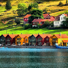 Fjord houses by Francis Xavier Camilleri - Buildings & Architecture Other Exteriors ( houses, landscape, norway, fjord,  )