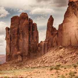 Monument Valley #2 by Jeannie Meyer - Landscapes Deserts ( navajo nation, navajo, monument valley, mountains, native american )