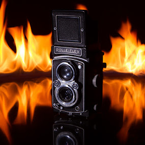 Rolleiflex on Fire by Glice Galac - Products & Objects Technology Objects