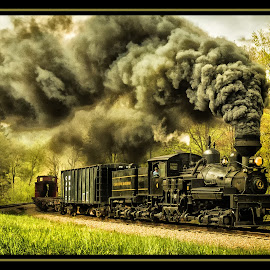 High Mountain Pass by James Eickman - Transportation Trains (  )