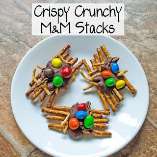 Crispy Crunchy M&M Stacks