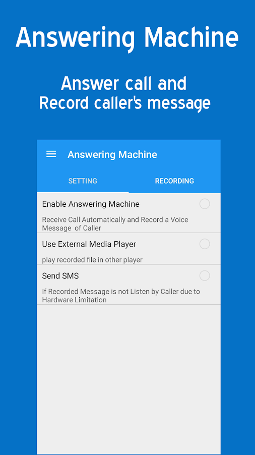 Answering Machine Pro Screenshot 1