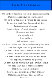 on 233 crit sur les murs paroles 1 0 apk apk apk apps