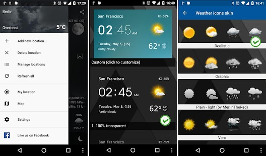 Transparent clock & weather APK for Bluestacks