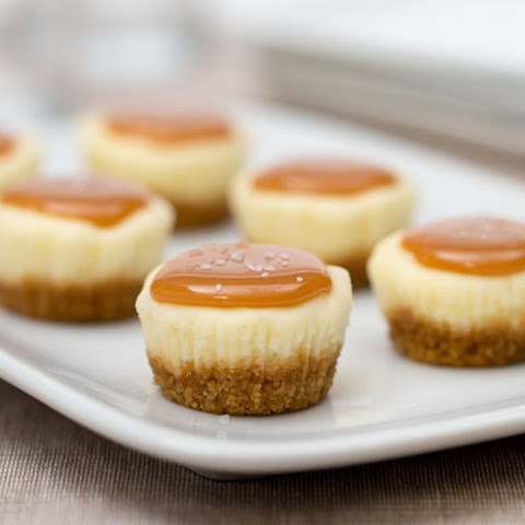 Bite-Sized Salted Caramel Cheesecake Minis