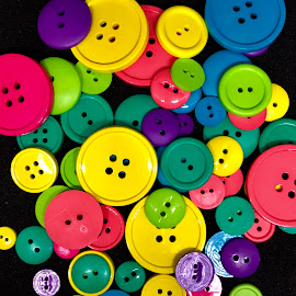 Buttons Up by Lorna Littrell - Artistic Objects Clothing & Accessories ( abstract, fashion, clothing, button, colors )