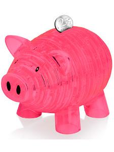 3D Crystal Puzzle Свинья XL розовый