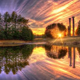 Pillars by DE Grabenstein - Landscapes Sunsets & Sunrises