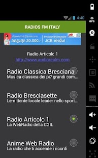 RADIOS FM ITALY - screenshot
