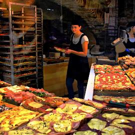 At the bakery by Francis Xavier Camilleri - City,  Street & Park  Markets & Shops