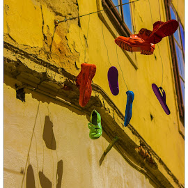 Shoe Tossing by Igor Modric - Artistic Objects Clothing & Accessories