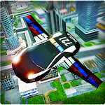 Flying Police Car 3D Icon